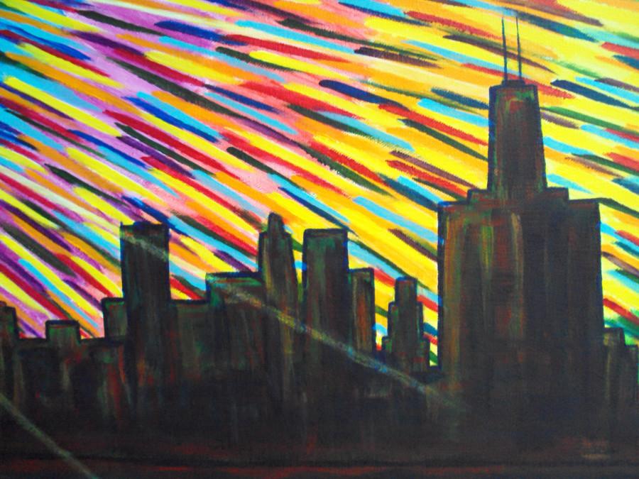 Black Sun Detail - Skyscrapers