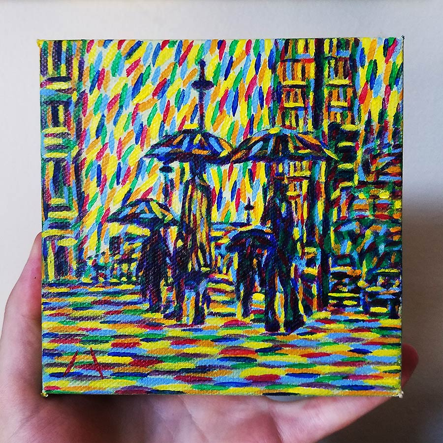 Rainy Street in hand