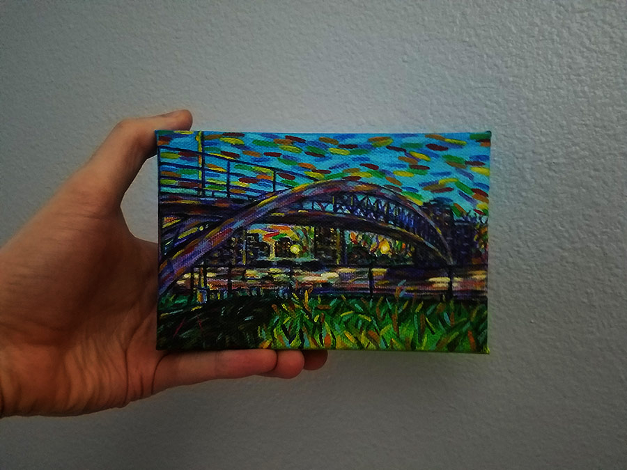 Pedestrian Bridge in hand